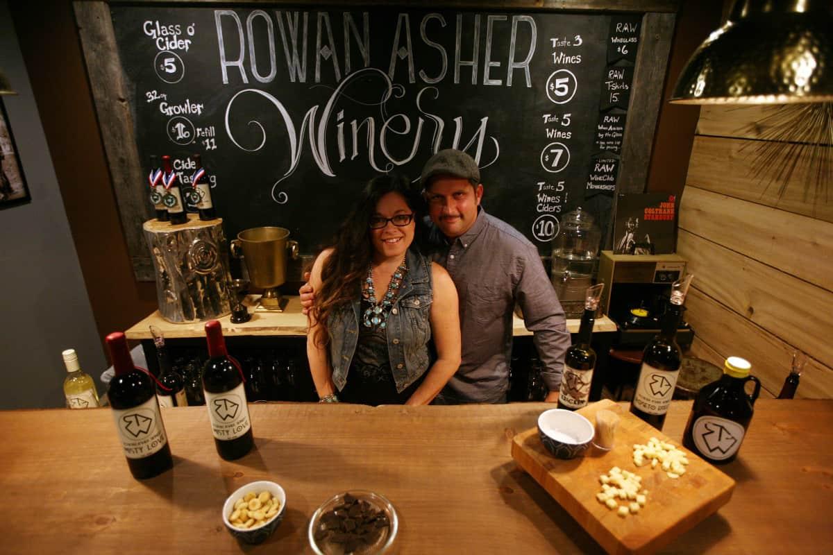 Mike and Misty Stallard of Rowan Asher Winery in Stroudsburg PA.
