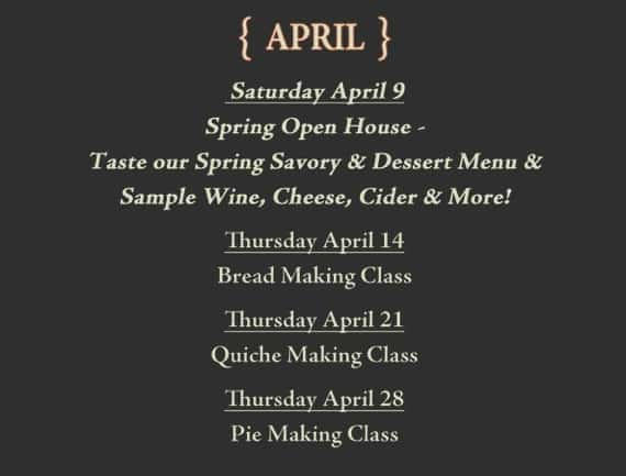 Frecon Farms April Events
