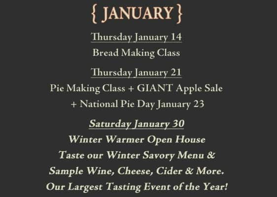 Frecon Farms January Events