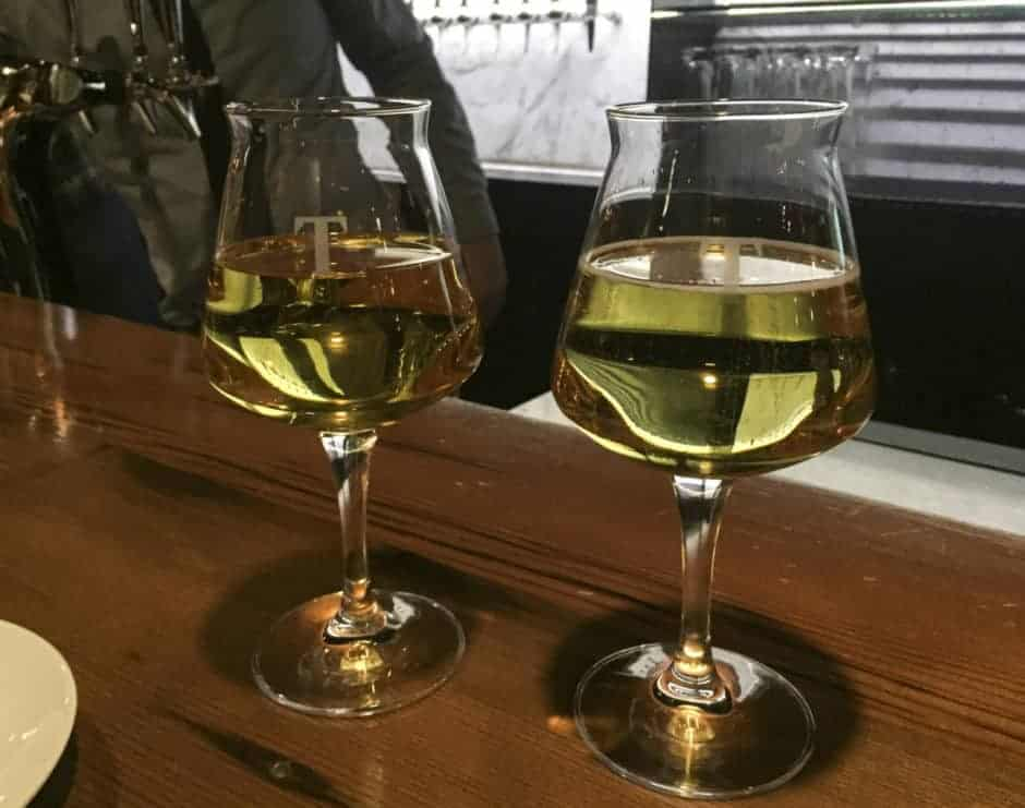 Tria Taproom Stone and Key Aged Cider and Virtue Percheron