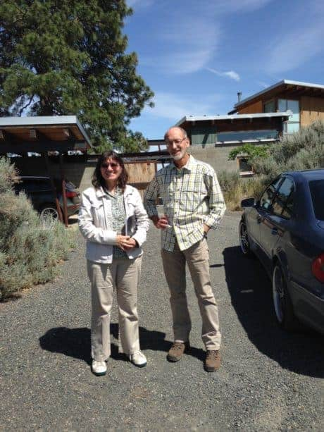 Women in Cider Carol Miles with Craig Campbell