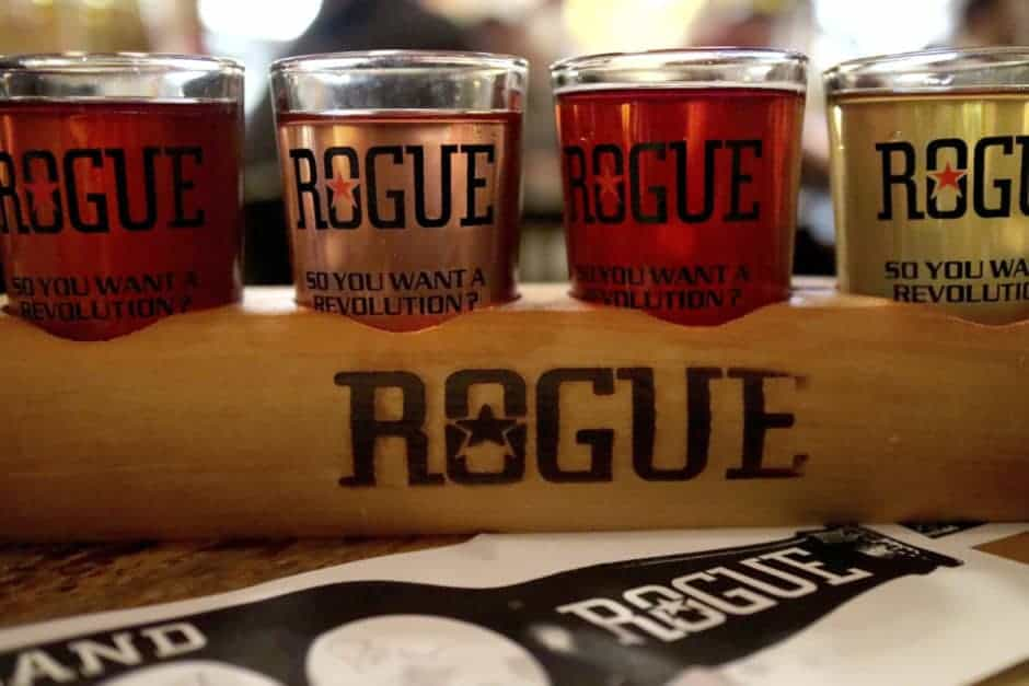 cider Rogue_Barrel Aged Cider flight