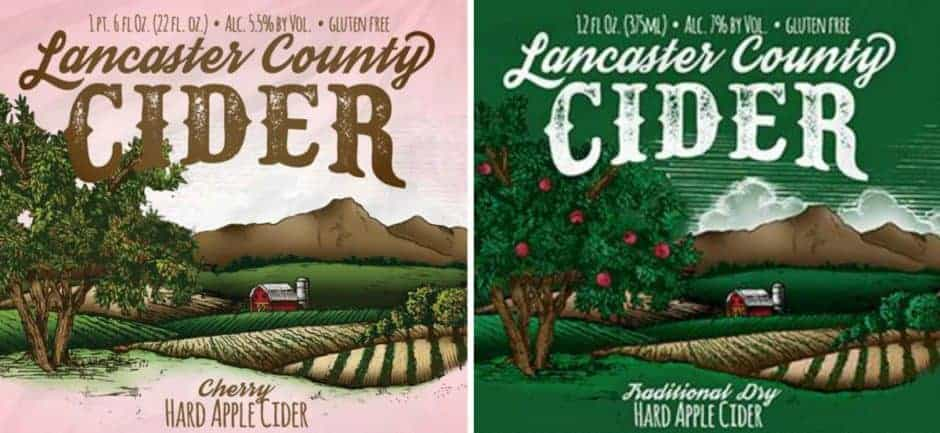 lancaster county cider collage