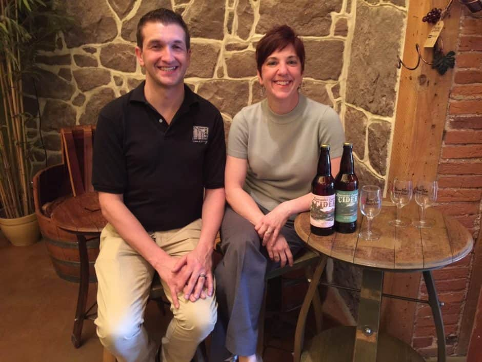 mike and candace at Lancaster County Cider