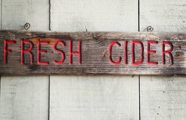 Fresh Cider Sign