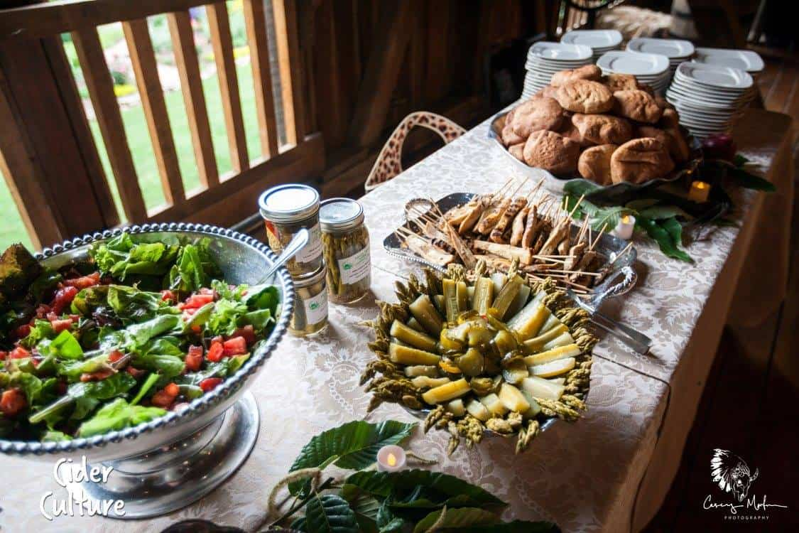 Cider Makers Dinner spread