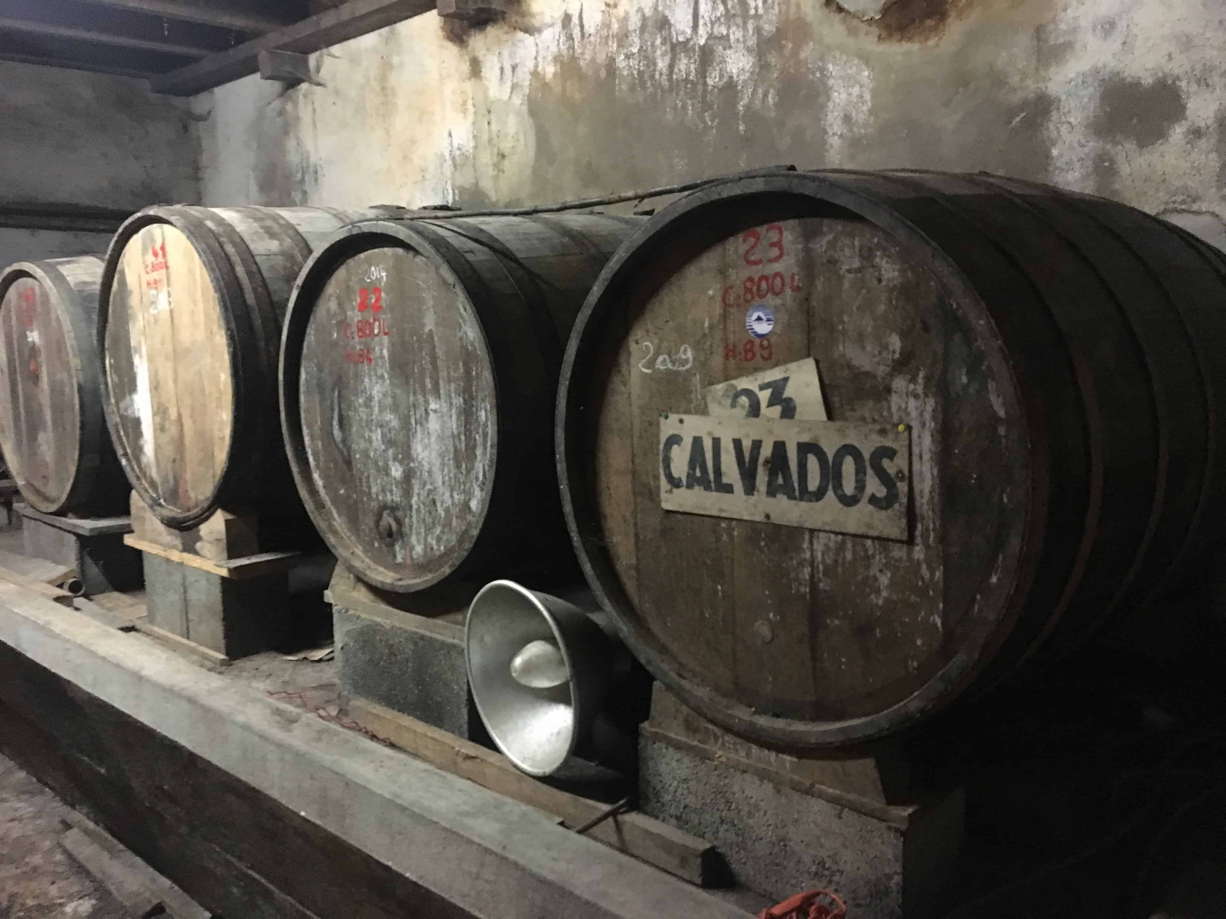 Normandy calvados kegs