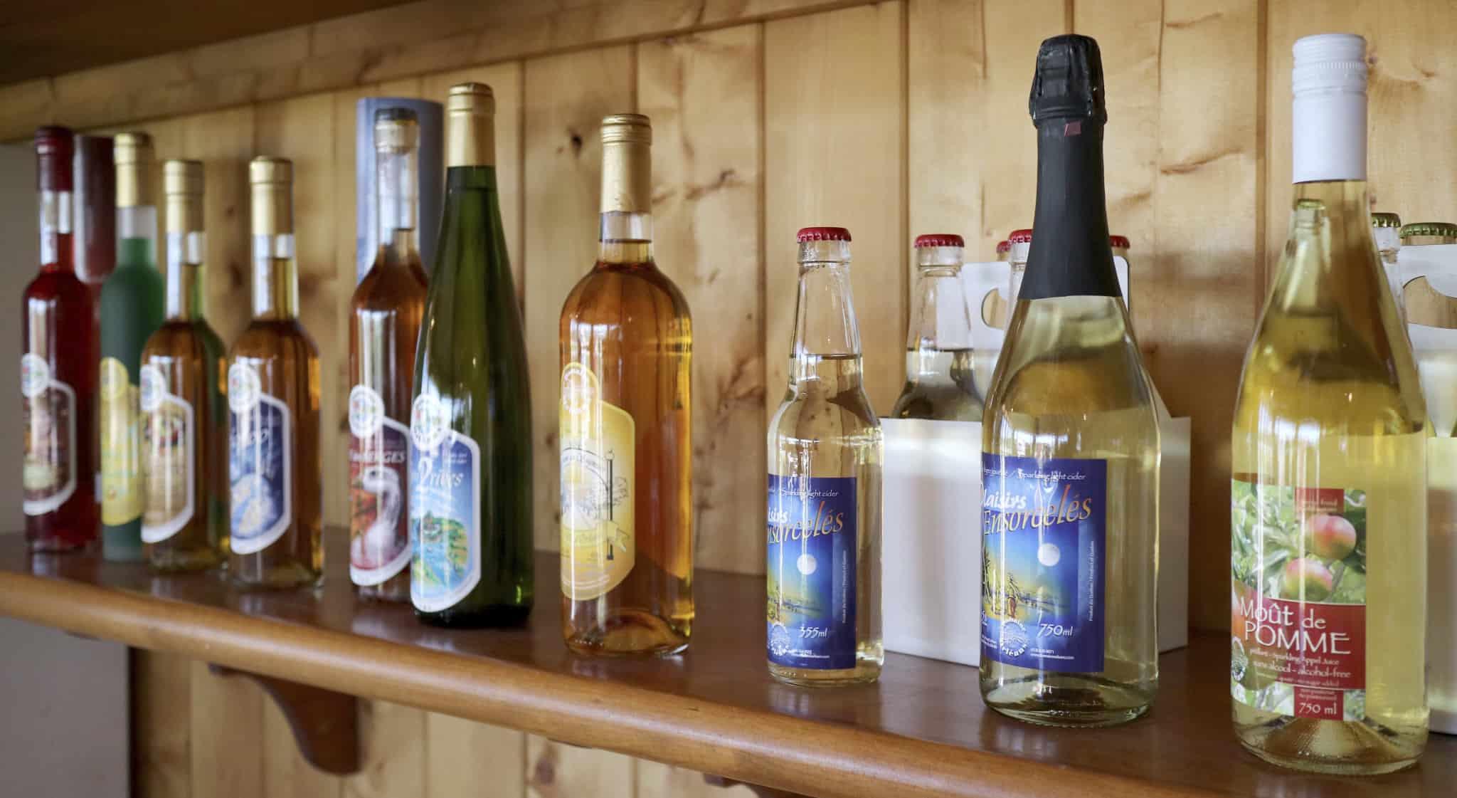 Quebec_Domaine dOrleanes bottles