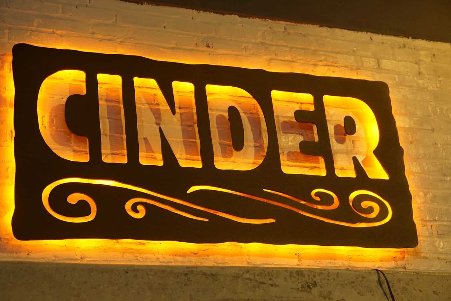 cinder-sign-outside