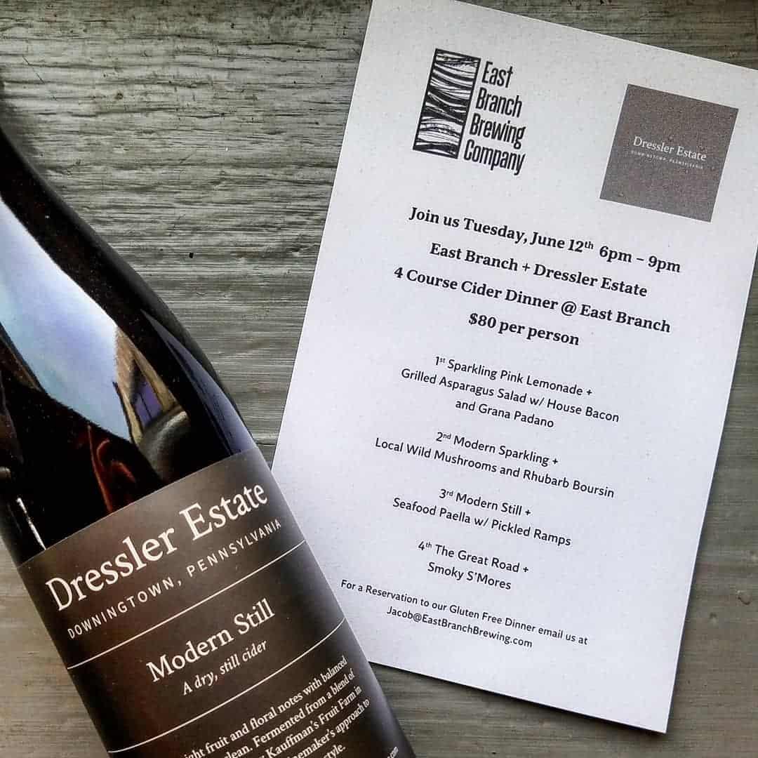 Dressler Estates Ciderversary Cider Dinner On June 12 In