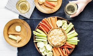 cider and party snacks