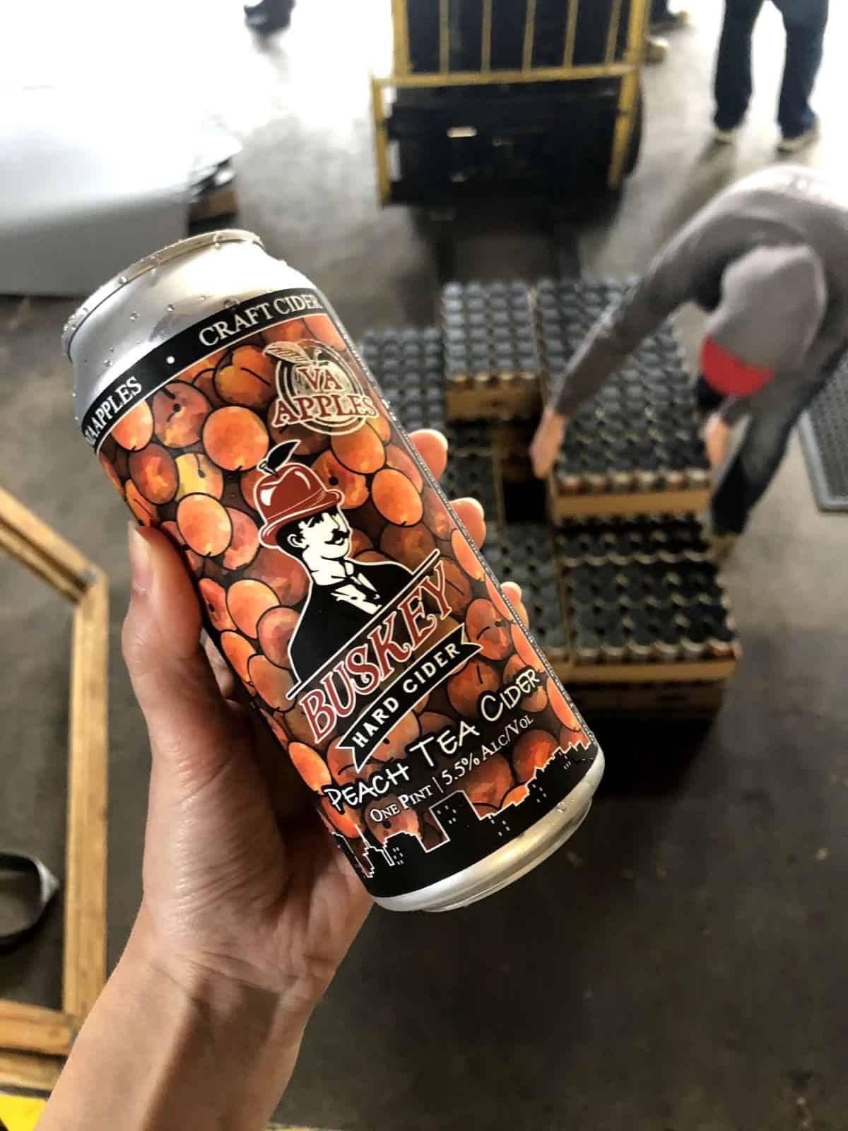 Buskey Peach Tea Cider