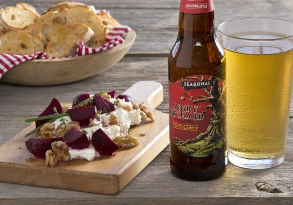 Photo credit: Angry Orchard; Tags: roasted beet salad, Cinnful Roasted Beet Salad