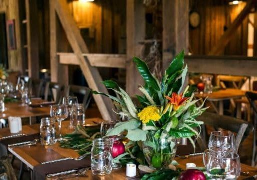 Photo credit: Casey Martin Photography; Tags: cider dinner, table setting