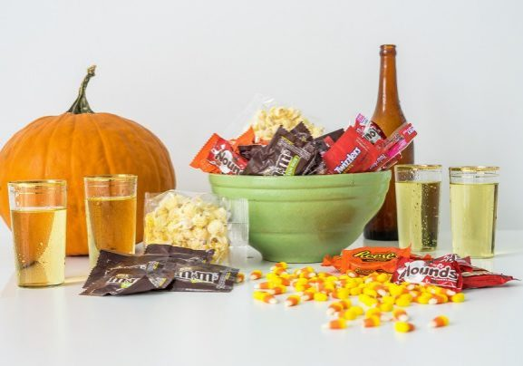 cider and Halloween Candy