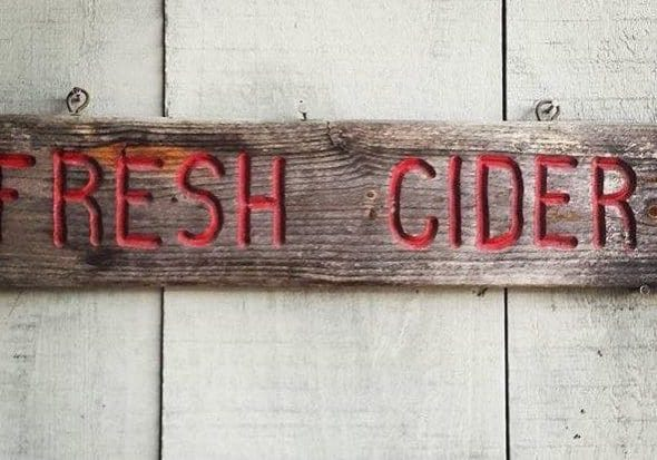 Photo credit: Alexandra Whitney Photography; Tags: cider, fresh cider, cider sign