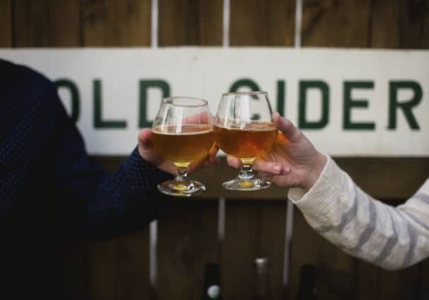 Credit: Alexandra Whitney Photography tags: apple cider, hard cider, cheers, toast